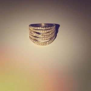 "Gold Ring with ""diamonds"""